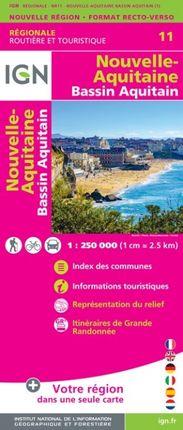 11 NOUVELLE-AQUITAINE (BASSIN AQUITAIN) 1:250.000 -ROUTIER FRANCE RÉGIONALE -IGN
