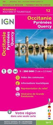 12 OCCITANIE (PYRENEES QUERCY) 1:250.000 -ROUTIER FRANCE RÉGIONALE -IGN