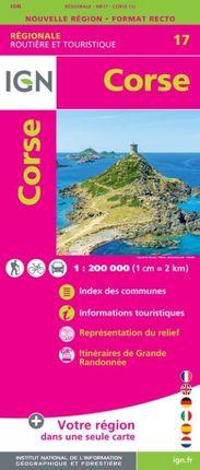 17 CORSE 1:250.000 -ROUTIER FRANCE RÉGIONALE -IGN