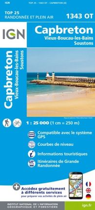 1343 OT CAPBRETON 1:25.000 -TOP 25 -IGN