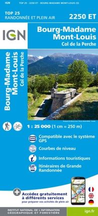 2250 ET BOURG-MADAME 1:25.000 -TOP 25 -IGN