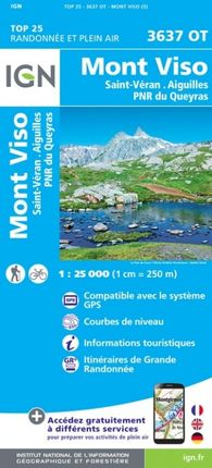 3637 OT MONT VISO 1:25.000 -TOP 25 -IGN