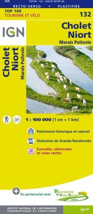 132 CHOLET 1:100.000 -TOP 100 -IGN