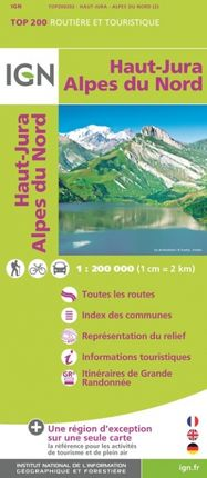 HAUT-JURA 1:200.000 -TOP 200 -IGN