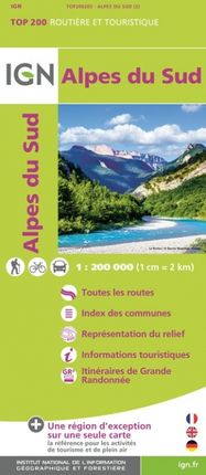 ALPES DU SUD 1:200.000 -TOP 200 -IGN