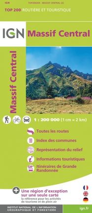 MASSIF CENTRAL 1:200.000 -TOP 200 -IGN