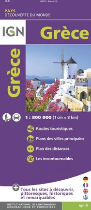 GRÈCE 1:800.000 -DÉCOUVERTE DES PAYS DU MONDE -IGN