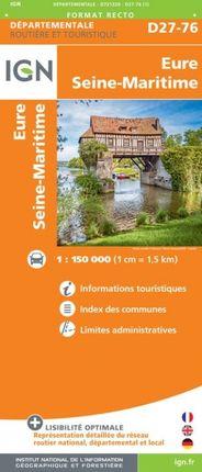 D27-76 EURE / SEINE-MARITIME 1:150.000 -ROUTIER FRANCE DÉPARTEMENTALE -IGN