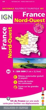 801 FRANCE NORD-OUEST 1:320.000 -ROUTIER FRANCE NATIONALE -IGN