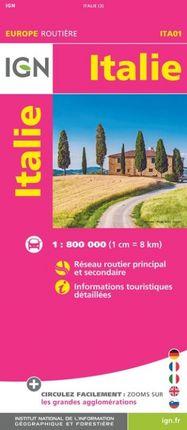 ITALIE 1:800.000 -EUROPE ROUTIÈRE -IGN