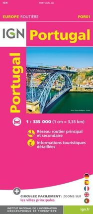 PORTUGAL 1:335.000 -EUROPE ROUTIÈRE -IGN
