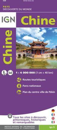 CHINE 1:4.000.000 -DÉCOUVERTE DES PAYS DU MONDE -IGN