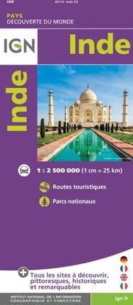 INDE 1:2.500.000 -DÉCOUVERTE DES PAYS DU MONDE -IGN