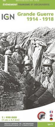 GRANDE GUERRE 1914-1918 1:410.000 -ÉVÈNEMENT -IGN