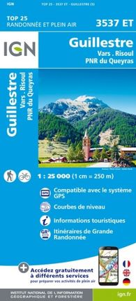 3537 ET GUILLESTRE 1:25.000 -TOP 25 -IGN