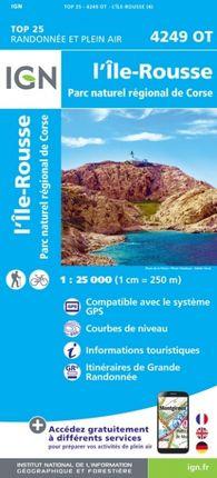 4249 OT L'ÎLE ROUSSE 1:25.000 -TOP 25 -IGN