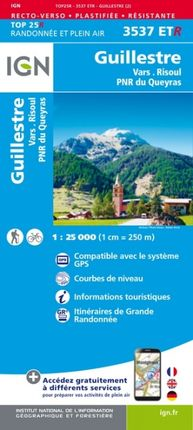 3537 ETR GUILLESTRE 1:25.000 -TOP 25 RÉSISTANTE -IGN