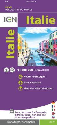 ITALIE 1:800.000 -DÉCOUVERTE DES PAYS DU MONDE -IGN