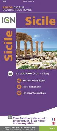 SICILE 1:200.000 -DÉCOUVERTE DES REGIONS DU MONDE -IGN