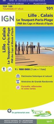 101 LILLE CALAIS 1:100.000 -TOP 100 -IGN