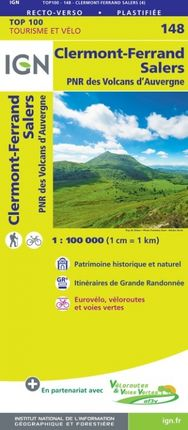 148 CLERMONT-FERRAND 1:100.000 -TOP 100 -IGN