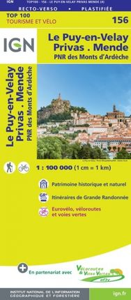 156 LE PUY-EN-VELAY 1:100.000 -TOP 100 -IGN