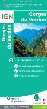 GORGES DE VERDON 1:16.500 -LOISIRS DE PLEN AIR -IGN
