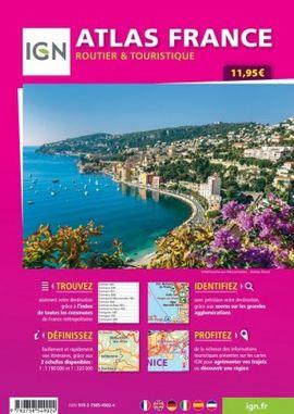 2020 ATLAS FRANCE [ESPIRAL] 1:320.000 ROUTIER & TOURISTIQUE -IGN
