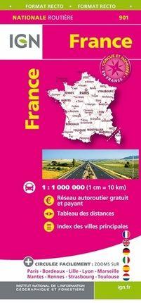 901 FRANCE 1:1.000.000 [UNA CARA] -IGN