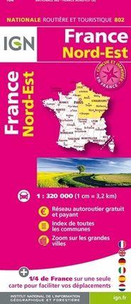 802 FRANCE NORD-EST 1:320.000 -IGN