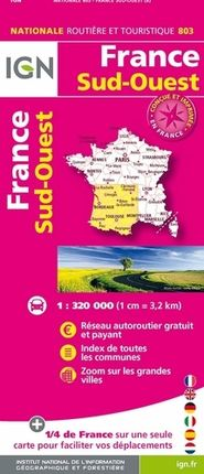 803 FRANCE SUD-OUEST 1:320.000 -IGN