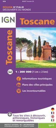 TOSCANE 1:200.000 -DÉCOUVERTE DES RÉGIONS DU MONDE -IGN