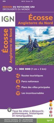 ECOSSE 1:300.000 ANGLETERRE DU NORD -IGN