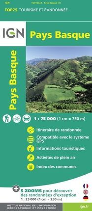 PAYS BASQUE 1:75.000 -TOP 75 -IGN