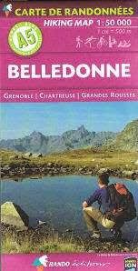 A1. BELLEDONNE. HIKING MAP 1:50.000 -RANDO EDITIONS