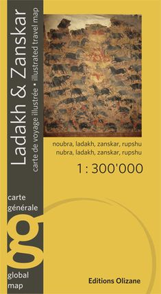 LADAKH & ZANSKAR 1:300.000 CARTE GÉNÉRALE -OLIZANE CARTES