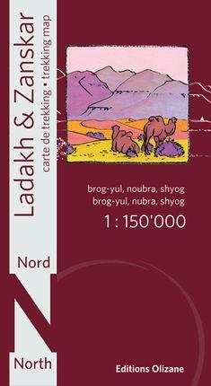 LADAKH & ZANSKAR NORD 1:150.000 -OLIZANE CARTES