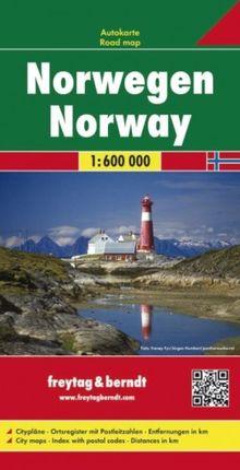 NORWEGEN (NORWAY) 1:600.000 -FREYTAG & BERNDT