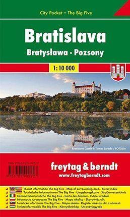 BRATISLAVA 1:10.000 -CITY POCKET -FREYTAG & BERNDT