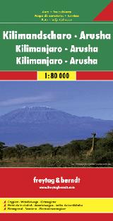 KILIMANDSCHARO - ARUSHA / KILIMANJARO - ARUSHA 1:80.000 -FREYTAG & BERNDT