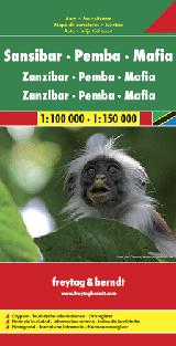 SANSIBAR, PEMBA, MAFIA 1:100.000 - 1:150.000 -FREYTAG & BERNDT