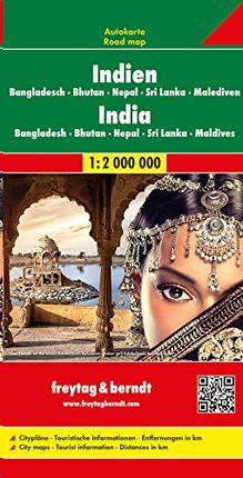 INDIEN (INDIA) 1:2.000.000 -FREYTAG & BERNDT