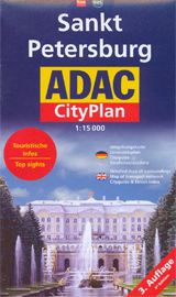 SANKT PETERSBURG 1:15 000 -ADAC CITYPLAN