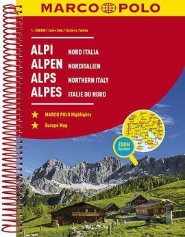 ATLAS ALPI. NORD ITALIA [ESPIRAL] [1:300.000]  -MARCO POLO