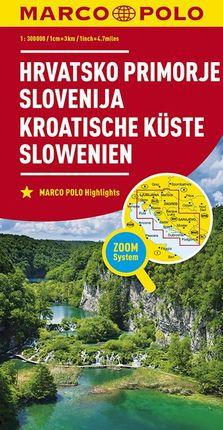 CROATIAN COAST - SLOVENIA [1:300.000] -MARCO POLO