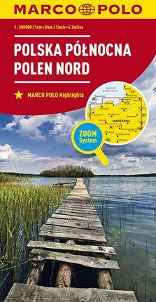 POLSKA POLNCNA - POLEN NORD 1:300.000 -MARCO POLO