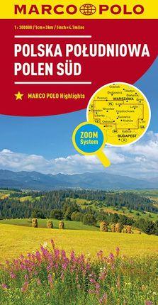 POLSKA POLUDNIOWA - POLEN SUD 1:300.000 -MARCO POLO