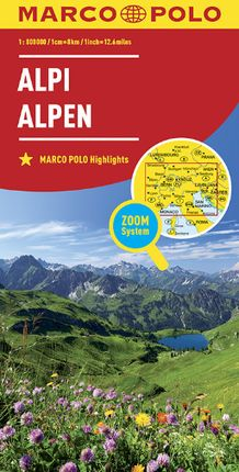 ALPEN - ALPES 1:800.000 -MARCO POLO
