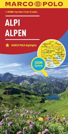 ALPI - ALPEN 1:800.000 ALPS - ALPES -MARCO POLO