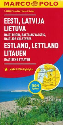 ESTONIA, LATVIA, LITHUANIA 1:800.000 -MARCO POLO